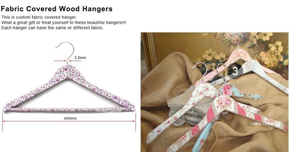 Vintage Inspired Fabric Covered Clothes Hanger