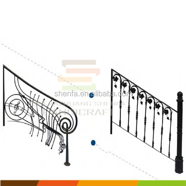 staircase railings cast iron stair railings for indoor decoration