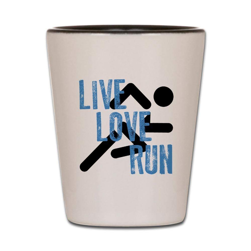 CafePress - Live, Love, Run Shot Glass - Shot Glass, Unique and Funny Shot Glass