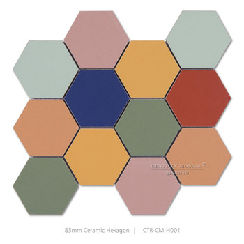 China Bunten Sechseck Keramik Bodenfliesen Mosaik Buy Keramische