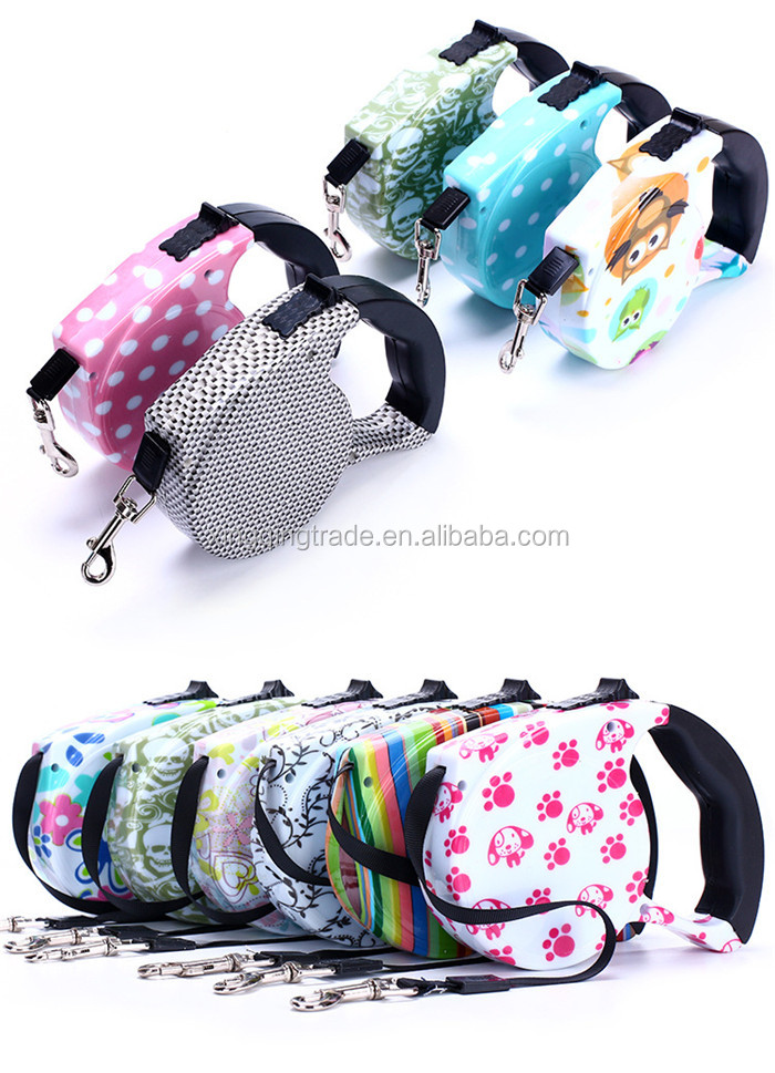 5M Automatic Retractable Dog Collar Pet Traction Rope Chain Harness for Dog Accessories Withstand