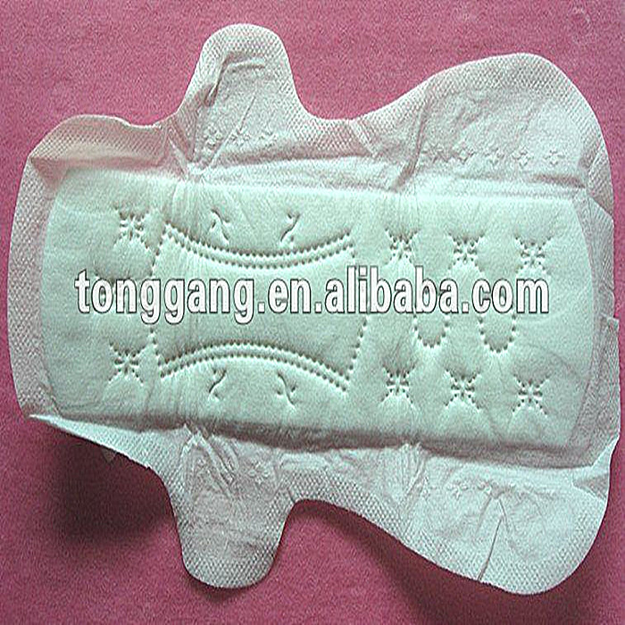 Disposable soft color ladies sanitary pads