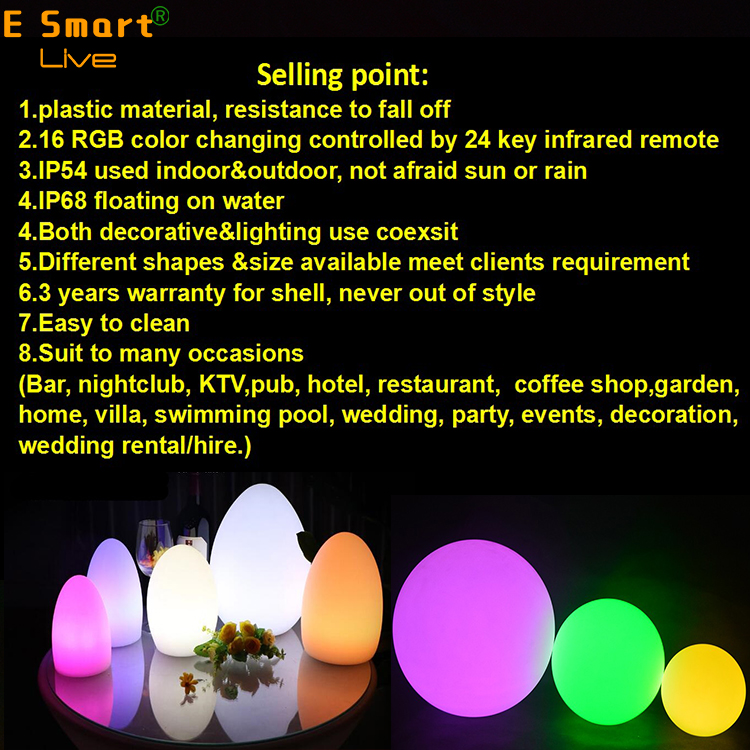 modern glowing illuminated wireless restaurant bar club decorative Plastic led table light Lamp