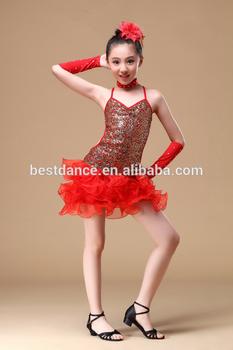 86ddb04b4bb BestDance New Girls Kids Red Blue Yellow Dance Dress Ballet Latin Performance  Dancewear
