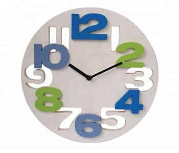 Emboss number home decor wall clock