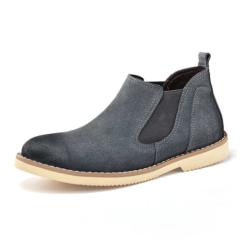 2f9d821c0383 Get Quotations · Bai Deng Men s Classic Suede Leather Chelsea Boots