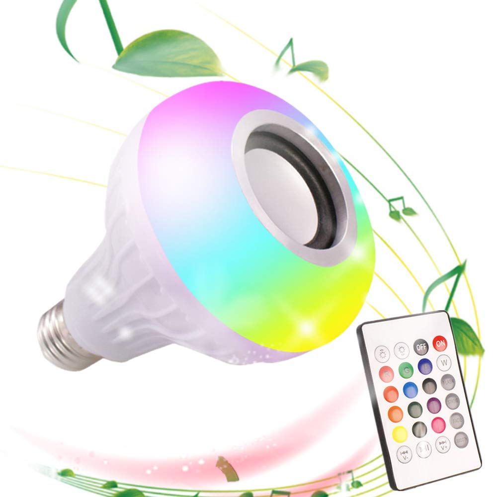 <strong>Smart</strong> <strong>Led</strong> <strong>Bulb</strong> E27 Lampada Blue tooth 12W RGB Lamp Dimmable 85-265V Blue tooth Speaker Music Player Audio <strong>Led</strong> Light <strong>Bulb</strong> +Remote