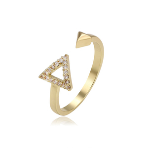 15011 Xuping triangle 1 gram gold rings design for women with price