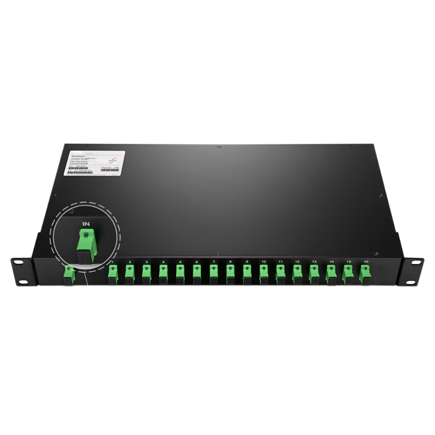 PLC Rack-type Fiber Optical Splitter Unit 1U Rackmount
