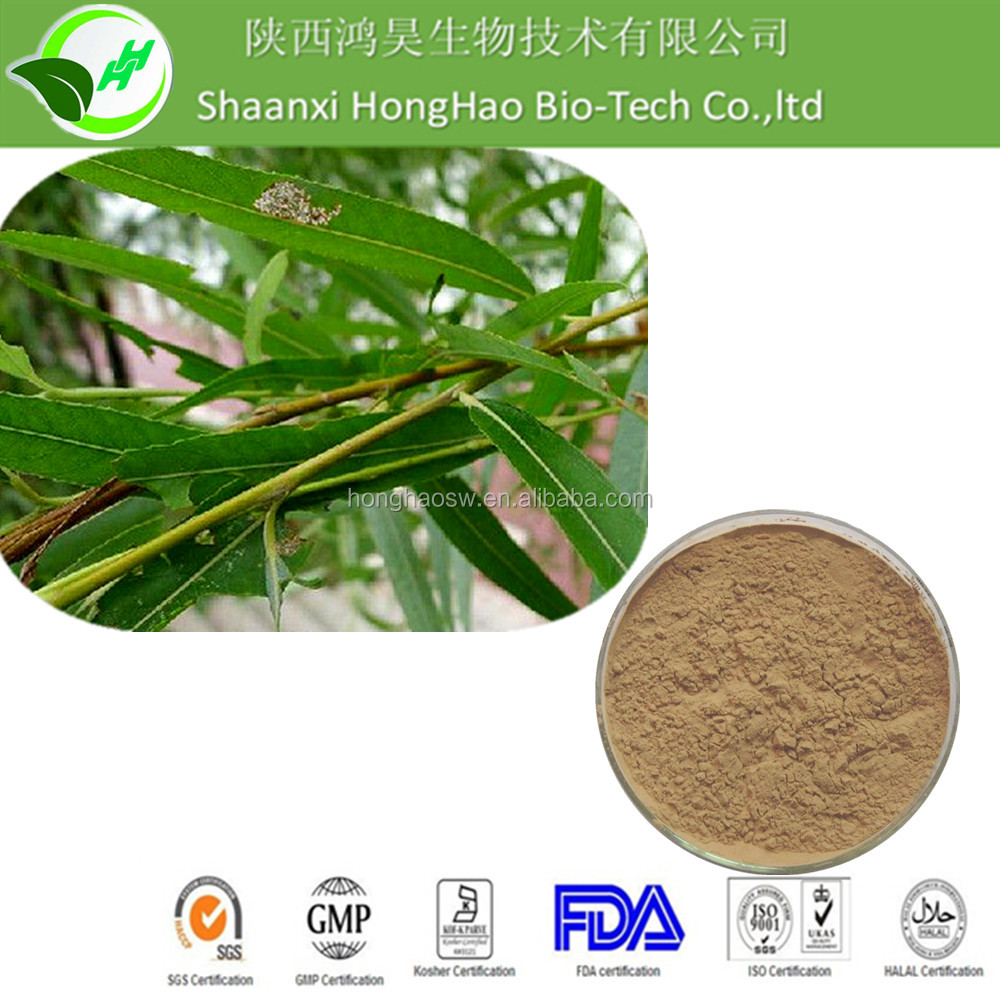 Organic Pure Bulk Supply White Willow Bark Extract Salicin 10% 15% 25% 30% 50%