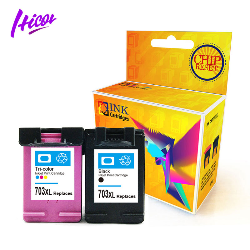 Best selling Hicor remanufacture reset chip to full level ink cartridge  703xl factory direct for HP