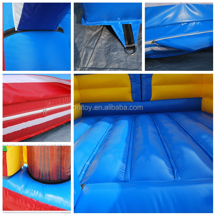 Outdoor 0.55mm PVC inflatable bouncy slide castle