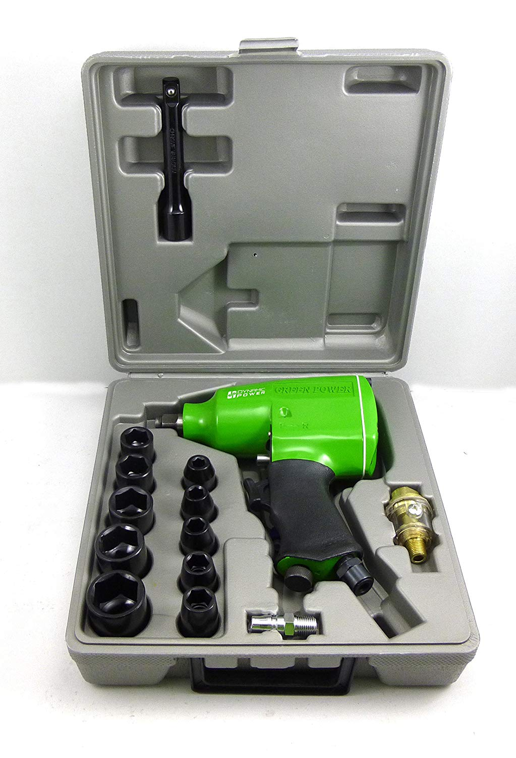 Dynamic 1 2 Air Impact Wrench Kit 4 Position Settings