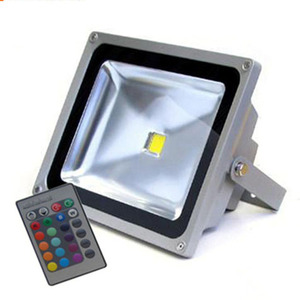 Hot selling 50w rgb led floodlight 50 watt flood light ip65 seven color remote control fixture
