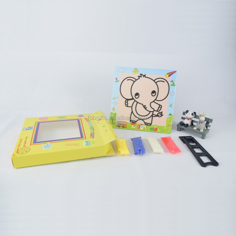 custom diy colored christmas kids art sand puzzle painting games
