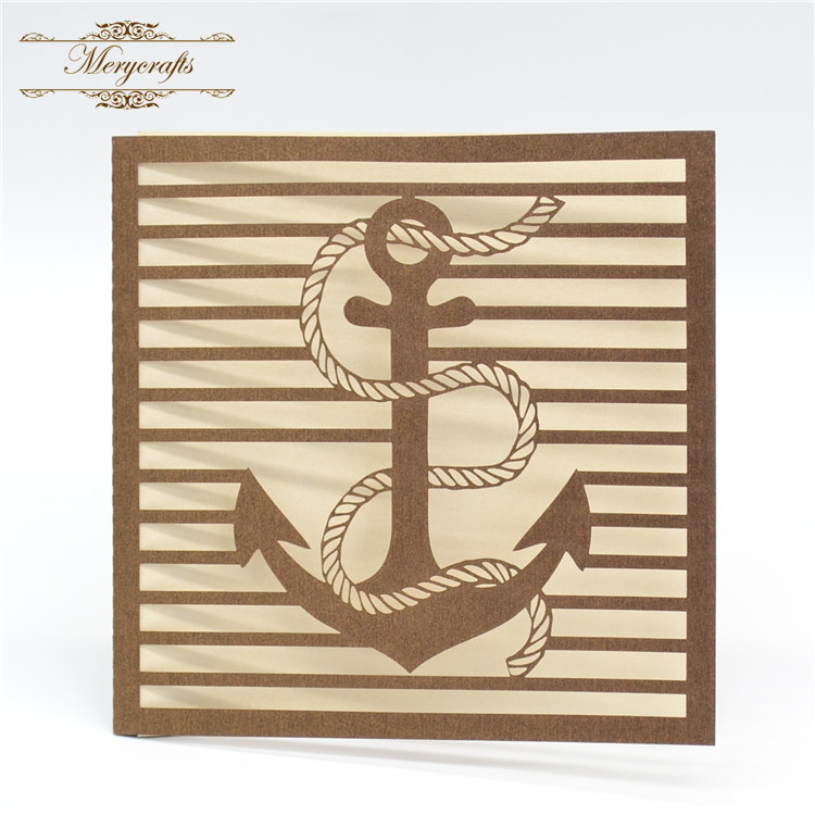 Anchor design elegant invitation card for opening ceremony