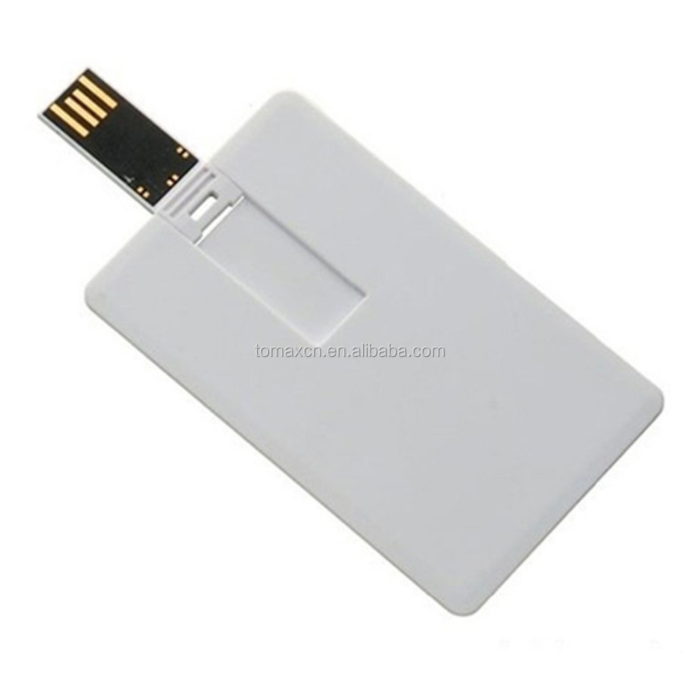 2 sides Full color print water proof promotion gift credit card 1GB USB flash drive