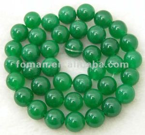 10mm round color dyed green jade jade gemstone