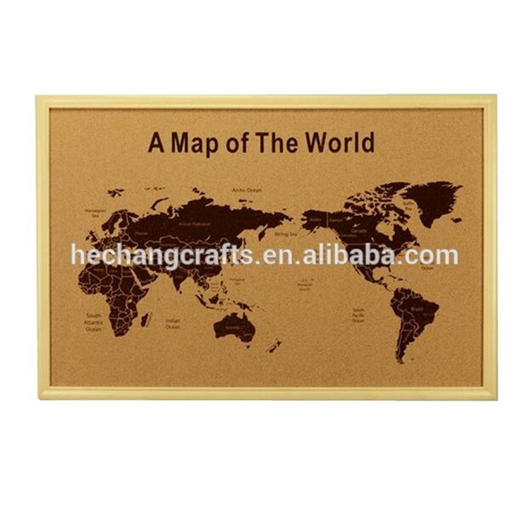 2018 Hot Selling Framed World Map Cork Board - Buy Framed World Map ...