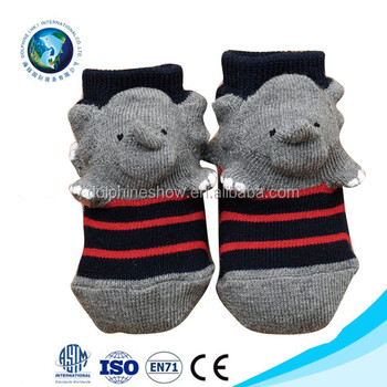 Cute Cotton Baby Sock Custom Animal Head Elephant Designs Anti Slip 3d Baby  Socks - Buy Baby Socks Anti Slip,Baby Socks Animal Heads,Cotton Baby Socks