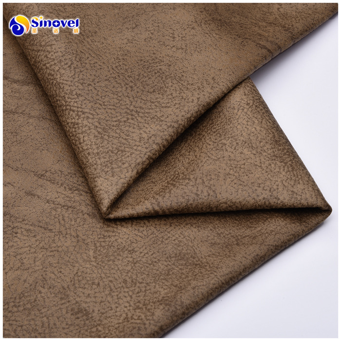 Fashion design bronzed pattern woven 100% polyester micro suede fabric for home textile