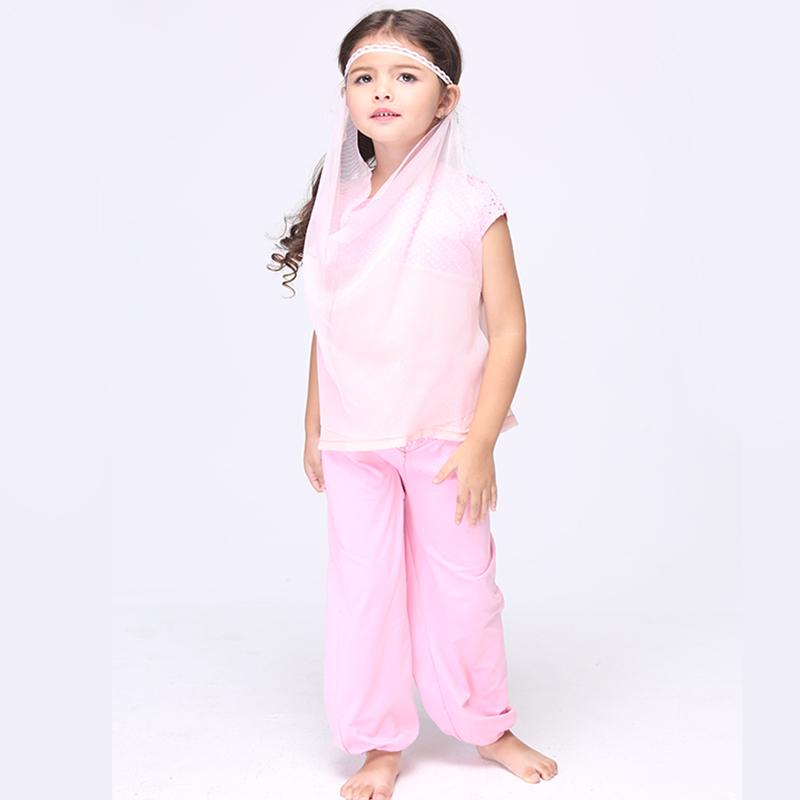 Direct Selling Pink Arabian Princess Cosplay Clothing Child Fantasy font b Fancy b font font b