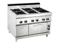 gas 6 - burner range with electric oven