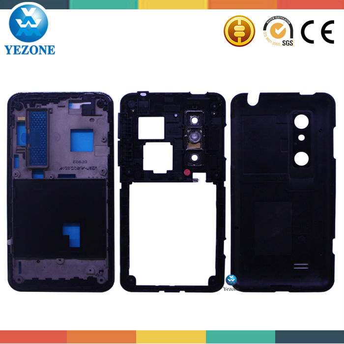 Original Housing Cover For LG optimus 3D P920 Full Housing Back Cover For LG P920 Middle Plate Battery Door