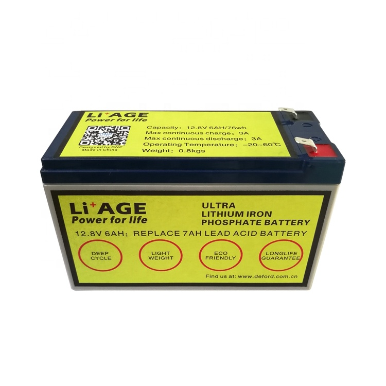 DNP di alta qualità LiFePO4 12 v 12.8 v battery pack 6AH 7AH 9AH