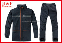 Navy raincoat suit without hood for men made of high quality fabric