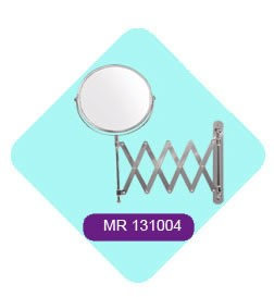 Wall Mounted Stainless Steel Chrome Plated Movable Bathroom Mirror