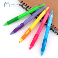 Marbling MPL991 Bulk Beauty Multi Color School Wholesale Pen Cheap Plastic Ball Point Pen Custom Logo