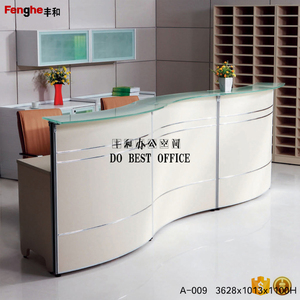Used executive reception table front desk table price with good quality