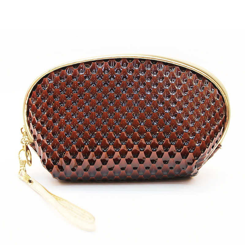 Factory direct sale classic style cosmetic bag snake leather design 2016 new arrival cheap price cosmetic bag