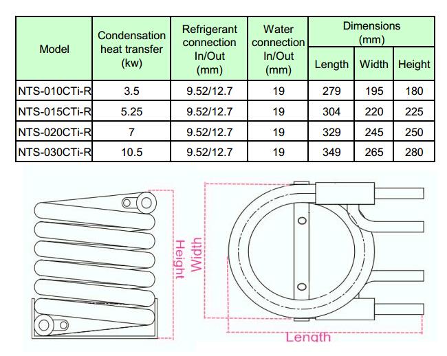 evaporator coil sizing chart trombones chiller coilstitanium evaporator coils buy chiller