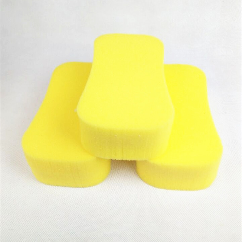 Sponges & Scouring Pads Household Cleaning Fast Deliver Practical Car Auto Washing Cleaning Sponge Block Cleaner Wiper Mini Yellow Honeycomb Coralline Car Sponge Sales Of Quality Assurance