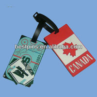 2012 hot selling PVC luggage tag for nation flag design