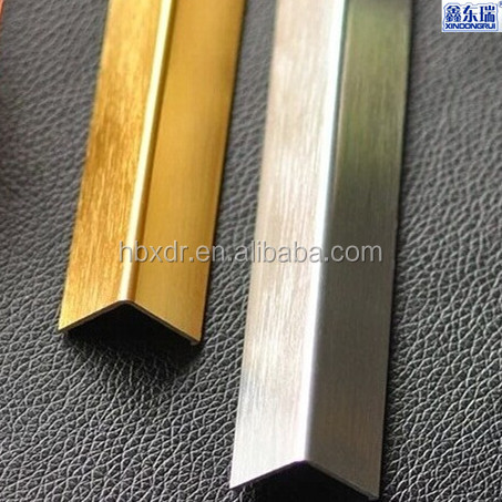 L Shaped Tile Trim Aluminium Floor Strip For Wall And