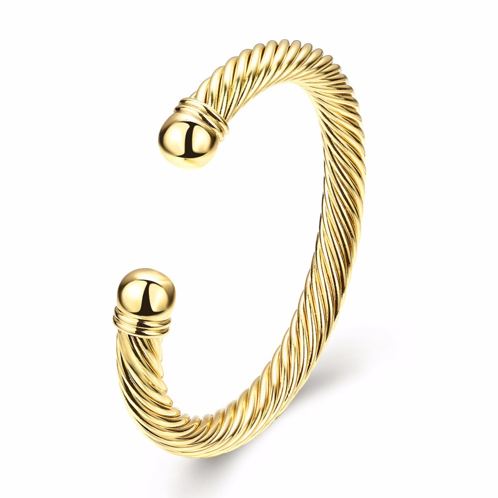 bracelets impl head stainless wide steel for oval bracelet shopcart gold tone women fits bangle screw sabrinasilver bangles product