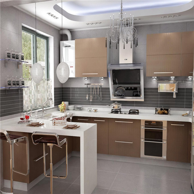 Factory Direct Supply Kitchen Wall Hanging Cabinet Mauritius Kitchen  Cabinet Pvc Edging Strip