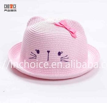 Novelty bowler hat cute animal straw hat kids safari hat for children dbd1def0903