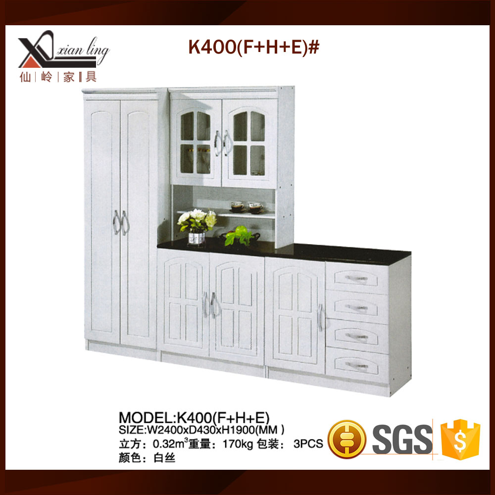 Mini Restaurant Kitchen Cabinet With Plastic Cover Door