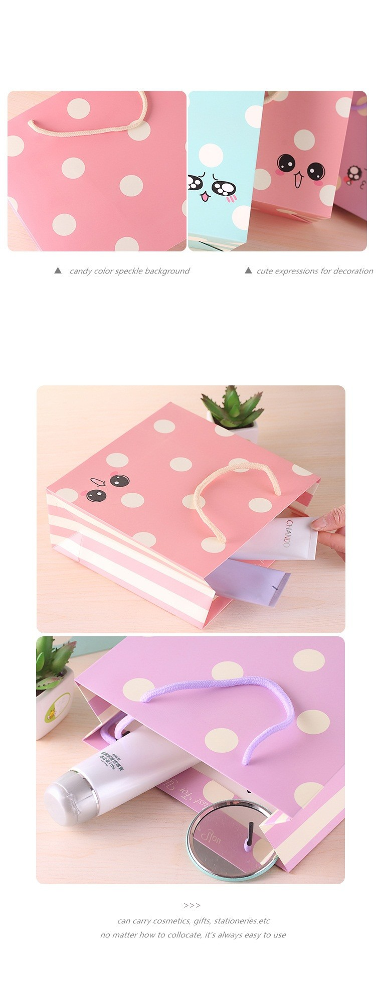 Funny Expressions Speckle Cosmetic Packaging Bag Paper Gift Carry Bag Buy Paper Carry Bag Cosmetic Bag Paper Gift Bag Product On Alibaba Com