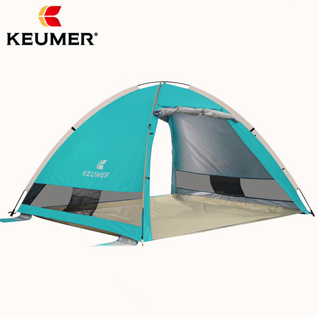 Pop Up Beach Tent Portable Sun Shelter UV Protection Automatic Canopy Shade Tents for Double Person with Carry Bag 1pc