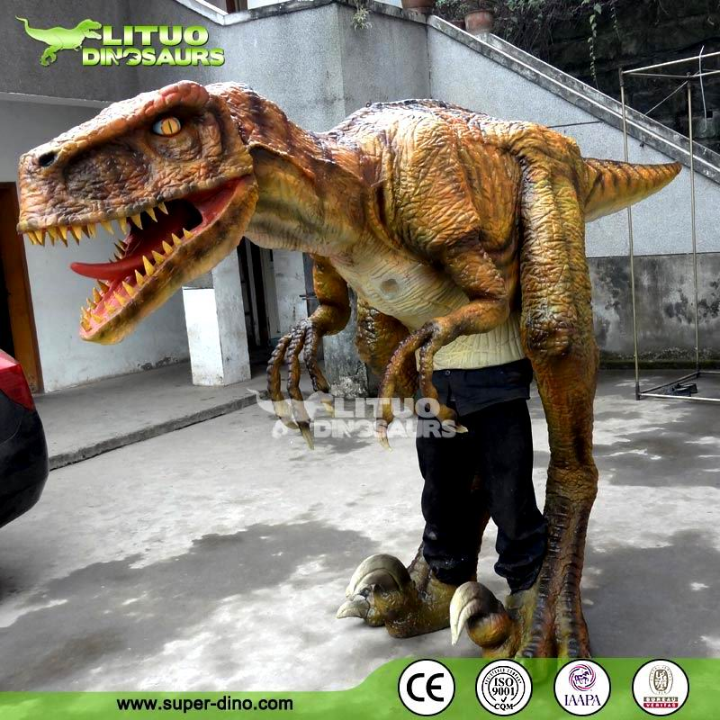 walking with dinosaur deinonychus costume