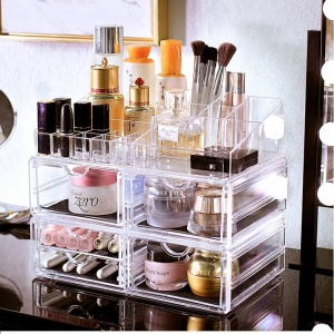 2018 transparent plastic drawer organizers/organizer,drawer organiser table piece