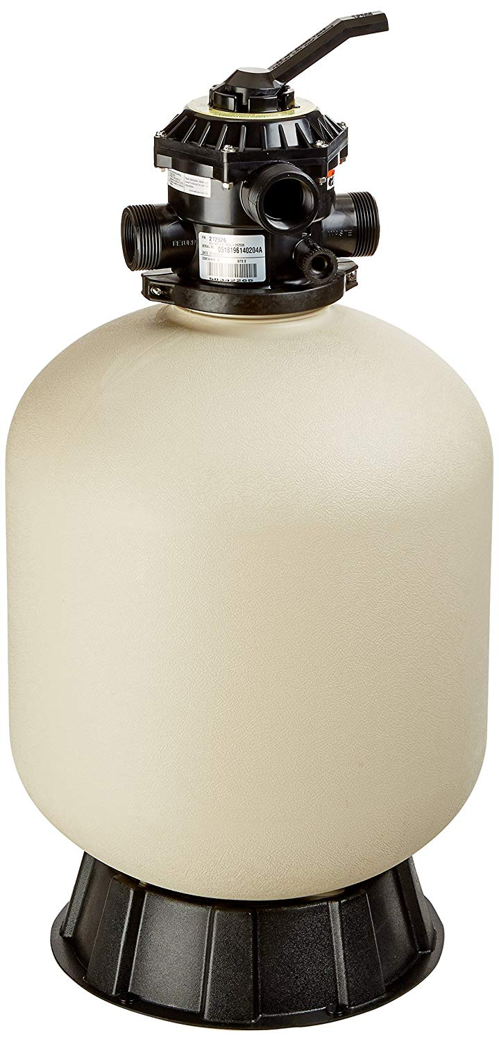 Pentair 145320 Sand Dollar Top Mount Thermoplastic Tank Sand Pool Filter, 1.8 Square Feet, 40 GPM, with Clamp-Style Multiport Valve