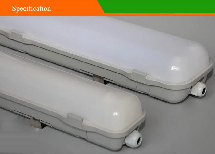 IP65 Led Triproof Light For Tunnel / Garage / Warehouse 60W