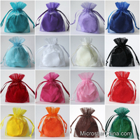 26 Color In Stock Customized Cheap Wholesale Organza Gift Bag