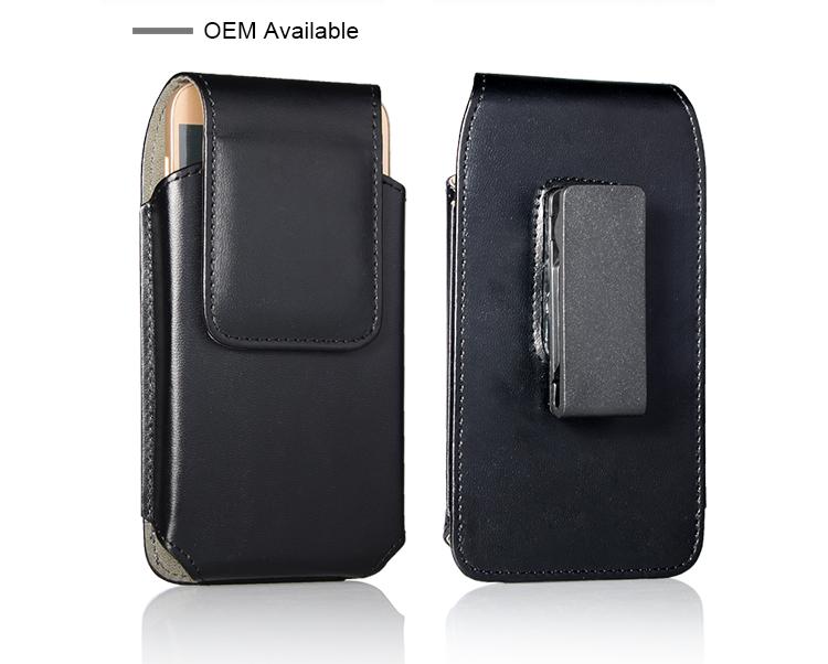 Universele Telefoon Gevallen Horizontale Riemclip Holster Leather Pouch Case iphone X 7 plus voor samsung s9 plus